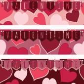 Sevgililer günü afişleri — Stok Vektör