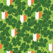 Shamrock pattern — Stock Vector