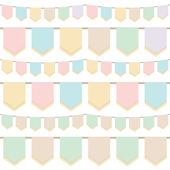 Pastel bunting — Stock Vector