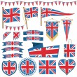 Uk flag decorations — Stock Vector #74758107