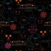 Patrón de Halloween — Vector de stock
