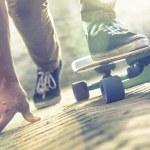 Skateboarder riding skateboard — Stock Photo #55970225