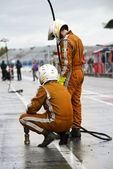 Waiting Pit Crew — Stock Photo