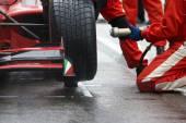 Racing team pitstop — Foto Stock