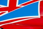 Union Jack on Race Car — Stok fotoğraf