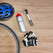 Постер, плакат: Cycling sports items