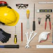 Construction tools on floor — Stock Photo #62425273