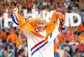 Supporter of Dutch national team — Stock Photo