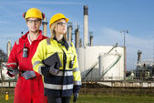 Two safety specialists — Stockfoto