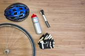 Cycling sports items — Stock Photo