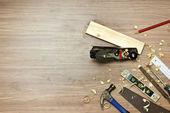 Wood working tools — Stock Photo