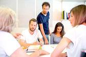 3D Designers Discussing In Studio — Stock Photo