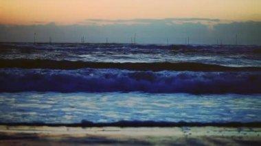Beautiful sun rise over sea — Stock Video