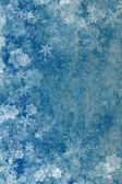 Beautiful blue Christmas background with snowflakes — Stock Photo