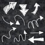 3d chalk arrows on grunge background — Stock Photo #60332493