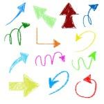 3d chalk arrows on grunge background — Stock Photo #60435113