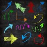 3d chalk arrows on grunge background — Stock Photo #60435157