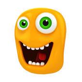 3d funny cartoon face — Stock Photo