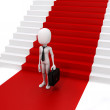 3d man businessman and red carpet, success in business concept — Stock Photo #62687995