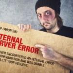 Http Error 500, Internal Server error page concept — Stock Photo #53286645