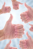 Thumb up — Stock Photo