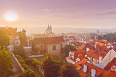 Prague City Morning Skyline — Stock Photo