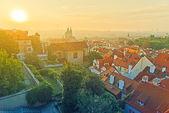 Prag skyline von morgen — Stockfoto