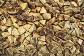 Firewood logs stacked — Stock Photo