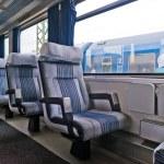 Passenger train interior with empty eats — Stock Photo #54905061
