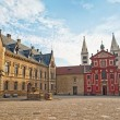 Saint George Square with Basilica in Prague — Stock Photo #56458585