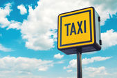 Taxi Stop Sign on the road — Stock Photo