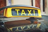 Taxi Cab Car Roof Sign — Stock Photo