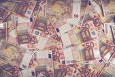 50 euro banknot yığını — Stok fotoğraf