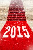 Red Carpet with number 2015 — Stock Photo