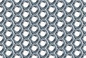 Bolt Nuts Pattern — Stock Photo