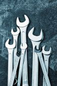 Wrench Jaw Spanner Tools — Foto de Stock