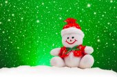 Smiling Generic Christmas Snowman Toy — Stock Photo