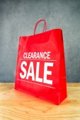 Clarance Sale Shopping Bag — Stock Photo