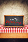 Daily Specials Title on Restaurant Slate Chalkboard — Stock Photo