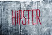Hipster Graffiti on Grunge Concrete Wall — Foto Stock