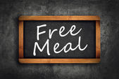 Free Meal Title on Restaurant Slate Chalkboard — Stock Photo
