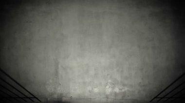 Prison cell door closing shadow on dark concrete jail floor — Stock Video