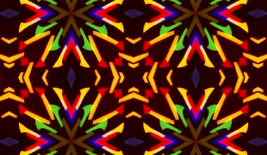Flashing Kaleidoscope rays as abstract background — Video Stock