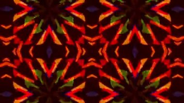 Flashing Kaleidoscope rays as abstract background — Stok video