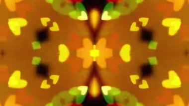 Flashing Kaleidoscope rays as abstract background — Vidéo