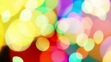 Beautiful colorful defocused bokeh festive lights as abstract holiday celebration background — Vídeo de stock