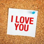 I Love You Note — Stock Photo