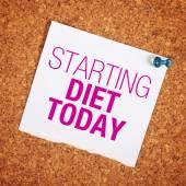 Starting Diet Today — Stock Photo