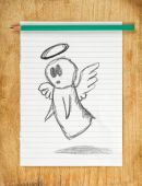 Angel Doodle Drawing — Stock Photo