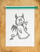 Devil Doodle — Stock Photo
